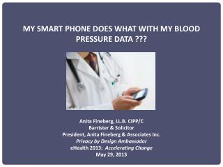 MY SMART PHONE DOES WHAT WITH MY BLOOD PRESSURE DATA ???