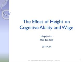 The Effect of Height on Cognitive Ability and Wage
