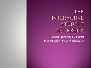 The  Interactive student notebook