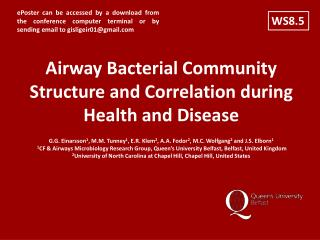 Airway Bacterial Community Structure and Correlation during Health and Disease