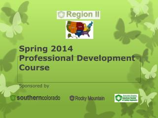 Spring 2014 Professional Development Course