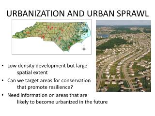 URBANIZATION AND URBAN SPRAWL
