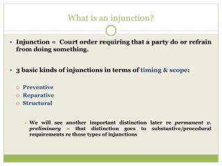 What is an injunction?