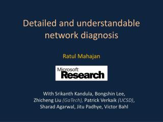 Detailed and understandable network diagnosis