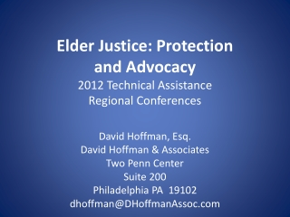 Older Adults Protective Services Act