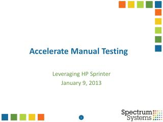 Accelerate Manual Testing