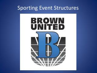 Sporting  Event Structures