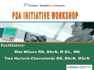 PDA INITIATIVE WORKSHOP