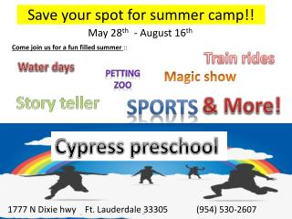 Save your spot for summer camp!!