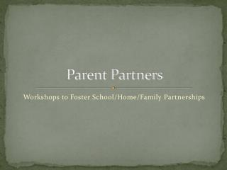 Parent Partners
