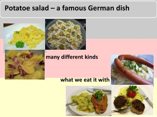Potatoe salad – a famous German dish