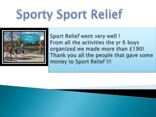 S porty  Sport  Relief