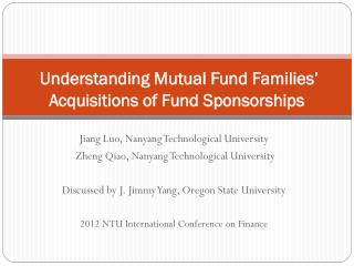 Understanding Mutual Fund Families' Acquisitions of Fund Sponsorships