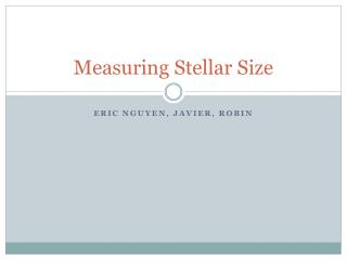 Measuring Stellar Size