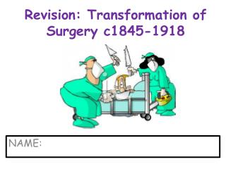 Revision: Transformation of Surgery c1845-1918