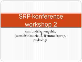 SRP-konference workshop 2