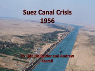 Suez Canal  Crisis 1956
