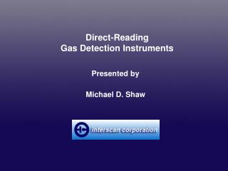 Direct-Reading Gas Detection Instruments