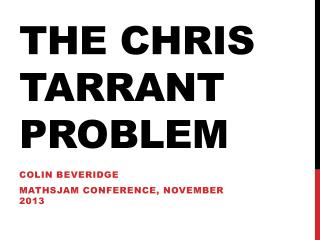 The Chris Tarrant problem