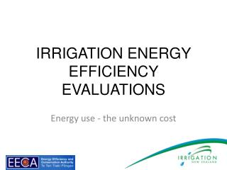 Irrigation  energy efficiency evaluations