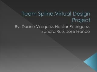 Team Spline:Virtual Design Project