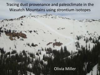 Tracing dust provenance and paleoclimate in the Wasatch Mountains using strontium isotopes