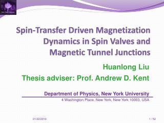 Spin-Transfer  Driven Magnetization Dynamics in  Spin Valves and Magnetic Tunnel Junctions