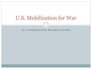 U.S. Mobilization for War
