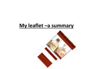 My leaflet –a summary