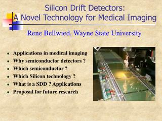 Silicon Drift Detectors:  A Novel Technology for Medical Imaging