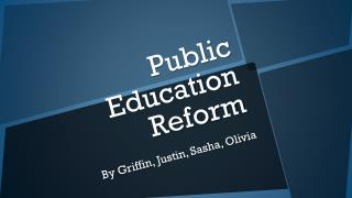 Public Education Reform