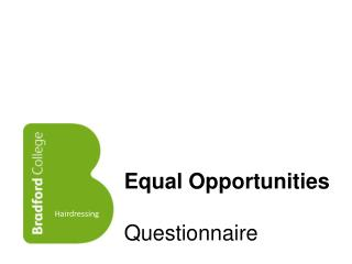 Equal Opportunities Questionnaire