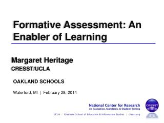 Formative Assessment: An Enabler of Learning