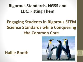 Engaging Students in Rigorous  STEM Science Standards while Conquering the Common Core