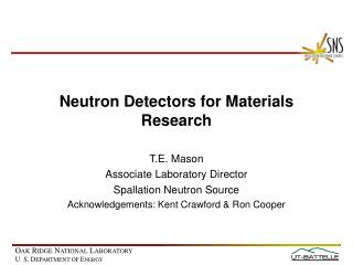 Neutron Detectors for Materials Research
