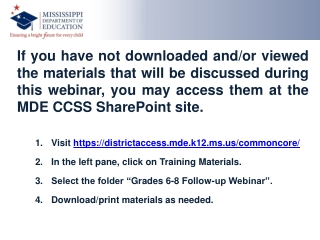 Common Core State Standards for Mathematics (CCSSM) and Assessments