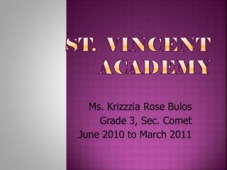 St.   Vincent  academy