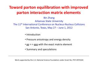 Toward  parton  equilibration with improved  parton  interaction matrix elements
