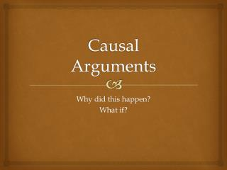 Causal Arguments