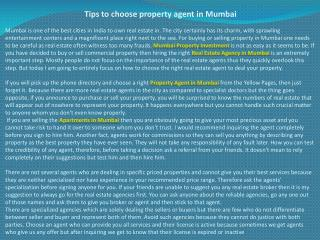 Tips to choose property agent in Mumbai