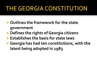 THE GEORGIA CONSTITUTION
