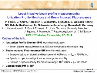 Least invasive beam profile measurements: