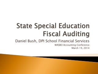 State Special Education Fiscal Auditing
