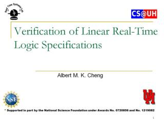 Verification of Linear Real-Time Logic Specifications