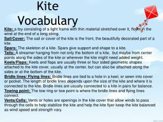 Kite Vocabulary