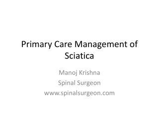 Primary Care Management of Sciatica