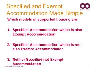 Specified and Exempt Accommodation Made Simple