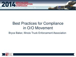 Best Practices for  Compliance