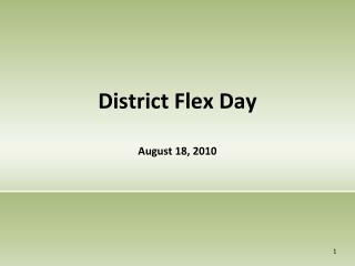 District Flex Day