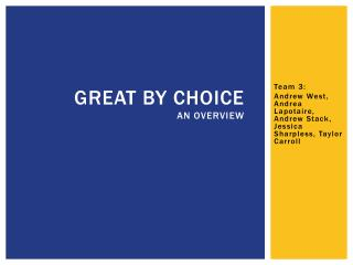 Great By Choice An Overview